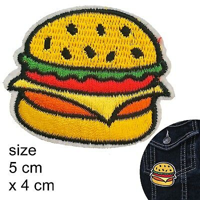 Hamburger iron on patch - fast food burger whopper meat the lot iron-on patches