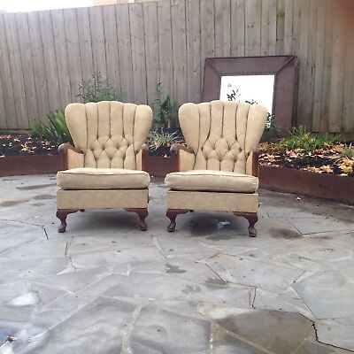 A pair of Vintage Retro Armchairs