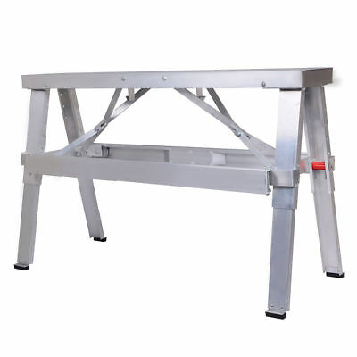 "Brand New Aluminum Heavy Duty Drywall Walk-Up Adjustable 18""-30"" Folding Bench"