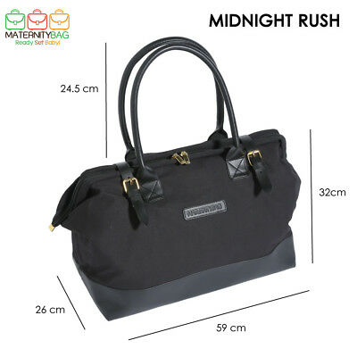 Modern Overnight Hospital Bags (Leather/Cotton Canvas