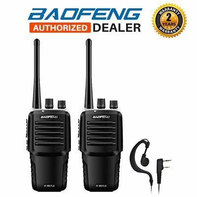 2 x 2018 Baofeng BF-888S Plus UHF Two Way FM Walkie Talkie Radio + Earpiece UK