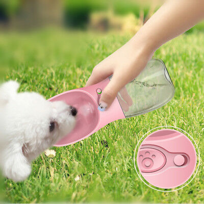 Cup Puppy Dog Cat Pet Water Bottle Drinking Travel Outdoor Portable 350ML QT4C