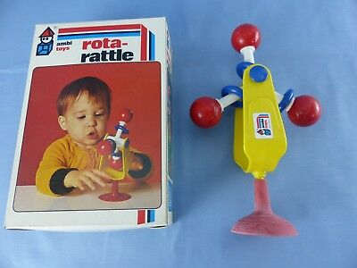 AMBI TOYS ROTA-RATTLE hochet VINTAGE , neuf + boite années 70 collector HOLLAND