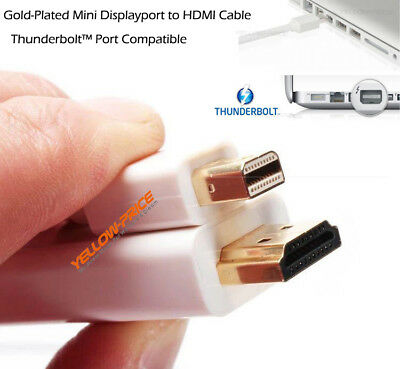 ThunderBolt Mini DisplayPort DP to HDMI Adapter Cable For Macbook Pro Air iMac