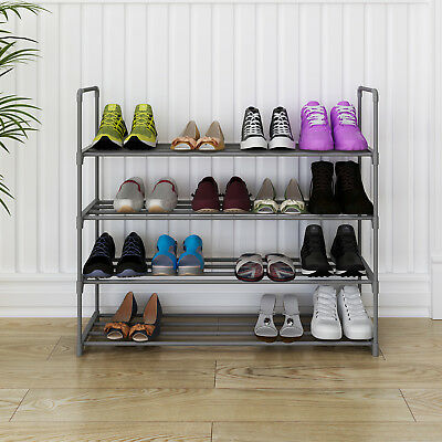 Shoe Rack Shoe Tower 4-tier Shoe Shelf Storage Organizer Cabinet for 20 Pairs