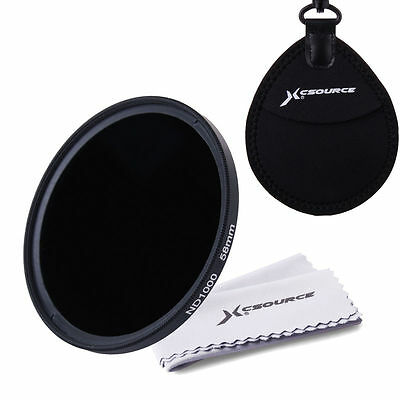 Xcsource Ultra Silm Neutral Density ND1000 Filter 58mm For Digital Camera LF506