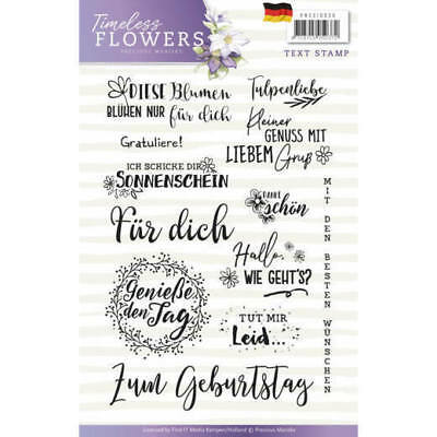 Clear Stamps - Text (Deutsch) - PMCS10030