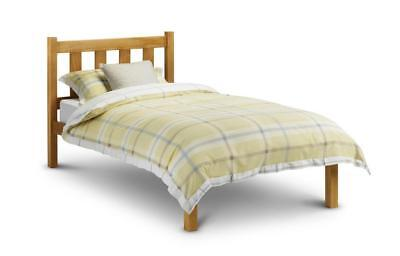 Julian Bowen Poppy Antique Pine Bed Frame - 3ft Single 4ft6 Double Bed Underbed