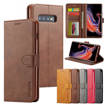 For Samsung Galaxy S7 S8 S9+ Note 8 Flip Wallet Case Luxury Leather Cover Stand