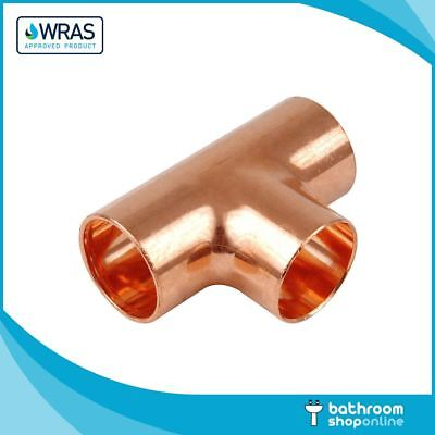 End Feed Copper Equal Tee Fittings Plumbing Copper Pipe WRAS Approved