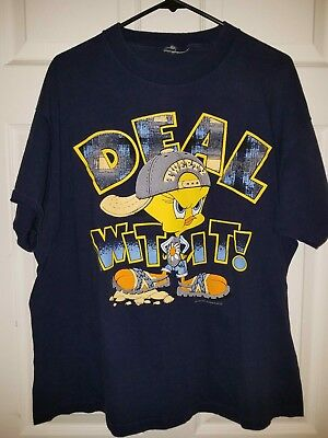 "Vintage 1995 Warner Bros Tweety Bird ""DEAL WITH IT"" Looney Tunes T-Shirt Sz M"