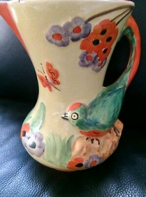 Parrot  Budgie Jug  Art Deco Wade Heath 114 Great condition!