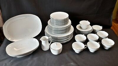 Noritake Whitebrook 6441 Place Settings for 8 - Complete Set of 45 Pieces