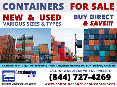 20' (foot/ft) Standard Steel Cargo Intermodal Shipping Container Indianapolis