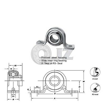 1x SSUCFT205-16 Stainless Steel Mounted Bearing Unit SSUC205-16+FT205 New QJZ