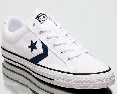 513816471c06 Converse Star Player Ox Summer Twill Men Shoes Mens Sneakers White Navy  160558C