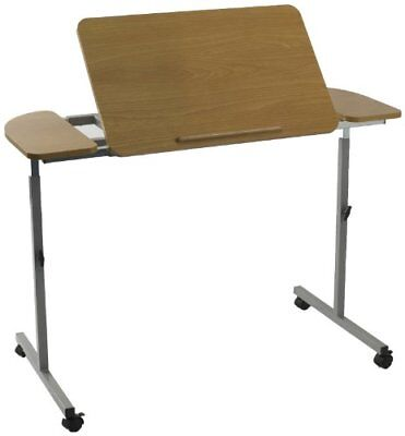 M66832 Wheeled   Tilting Over Bed Or Chair Table - Height   Width Adjustable By