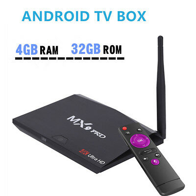 MX9 Pro 2G+16GB ROM Smart Android 7.1 TV Box  4G+32GB RK3328 Quad Core Receivers
