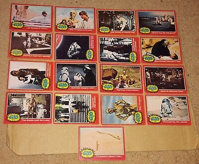 17 x STAR WARS Original RED 'A' TRADING CARDS