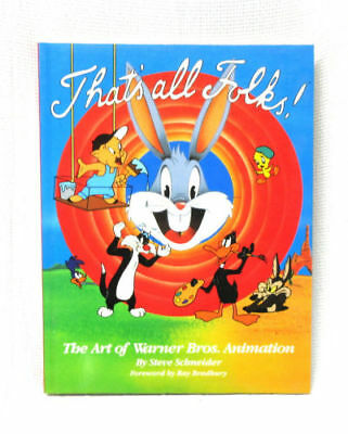That's All Folks The Art of Warner Bros. Animation Paperback Book Copyright 1988