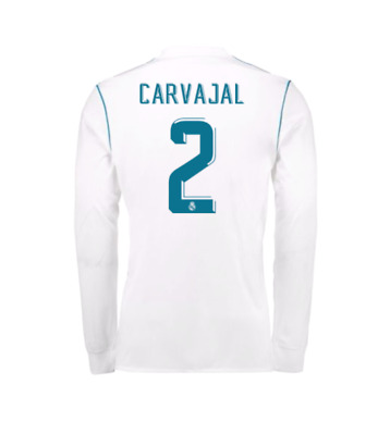 Adults XL Real Madrid Home Shirt 2017-18 - Long Sleeve with Carvajal 2 RM10