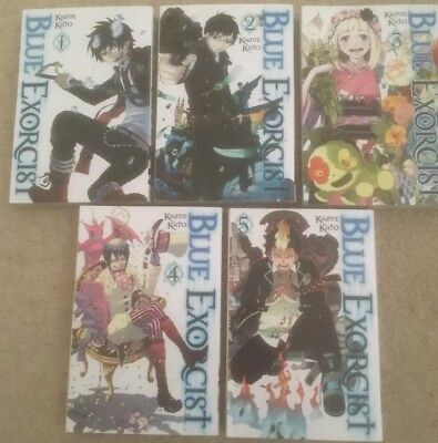 Blue Exorcist Volume 1-5 Collection 5 Books Set (Series 1) Children Manga - VGC