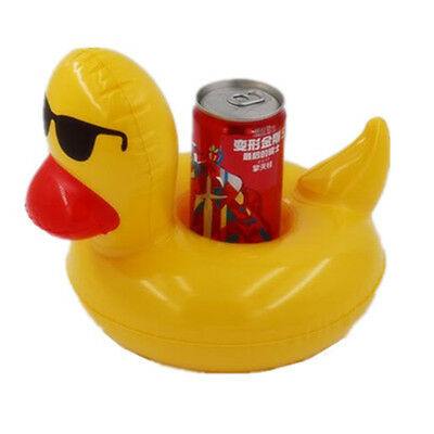Inflatable Duck Floating Swimming Pool Beach Drink Can Cup Beer Holder Boat Toys
