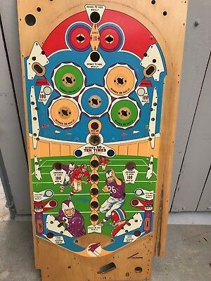 Williams Touchdown Pinball nice used playfield . Great on the wall or on a game