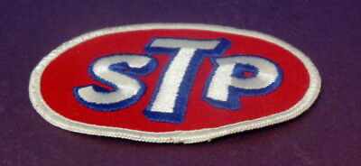 Vintage STP Automobile Oil Embroidered Oval Patch
