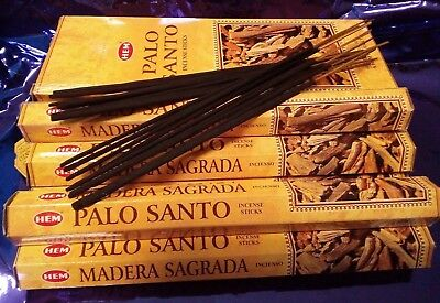 "20 STICKS INCENSO "" PALO SANTO "" profumo resina anima relax meditazione essenza"