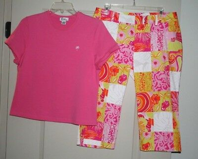 Lilly Pulitzer Capri Pant And Top Outfit Set!      Pants 12P     Top  Pl