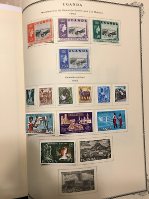 Awesome Mint 1962-1965 Uganda Collection On Scott Specialty Pages! Strong Cv!