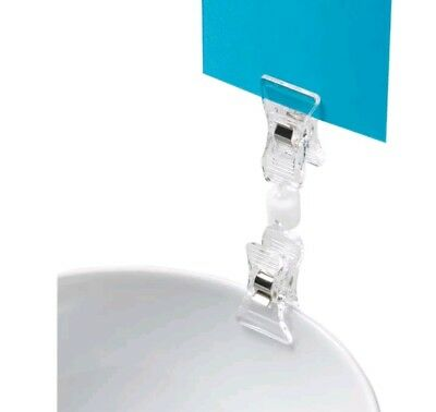 """Deflecto Clips Grips Tags VersaGrip Sign Holder W/2 Clips 3.5"""" - 20008RT"""