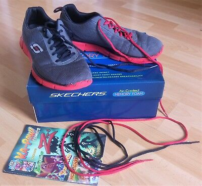 SKECHERS EQUALIZER QUICK Reaction Sneakers in Grau und Rot