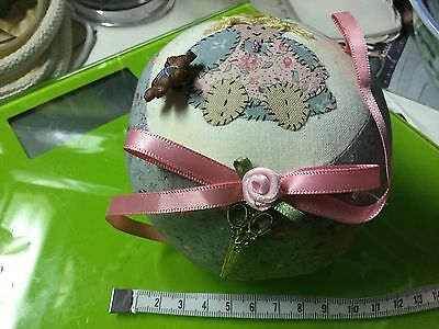 Nan's VINTAGE PIN CUSHION 11cm diameter 10cm high VGUC
