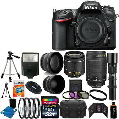 Nikon D7200  DSLR Camera 9 Lens 18-55 VR +70-300 +500MM + 32GB Best Value Bundle