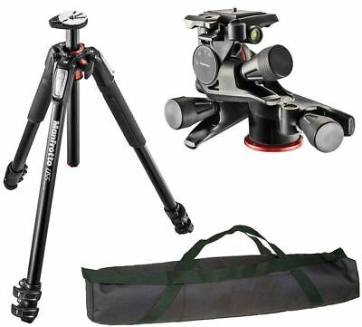 Manfrotto MT055XPRO3 Aluminium Tripod kit + Geared Quick Release Head + Case