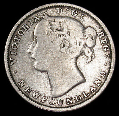 1873 Newfoundland 20 Cents KM# 4 silver coin Canada 45,797 minted