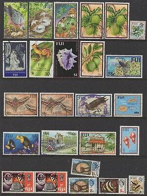 Fji Collection Of (25) Stamps Vfu