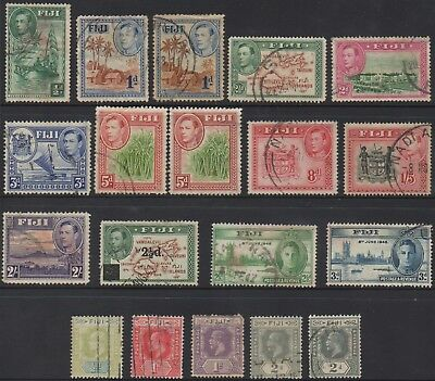 Fiji 1903 /1946 King George Vi /pictorials (19) Stamps Used