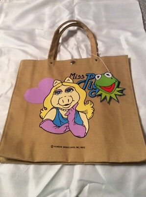 Rare Jim Henson Miss Piggy Muppet Tote Bag 1982 Good Condition NEW