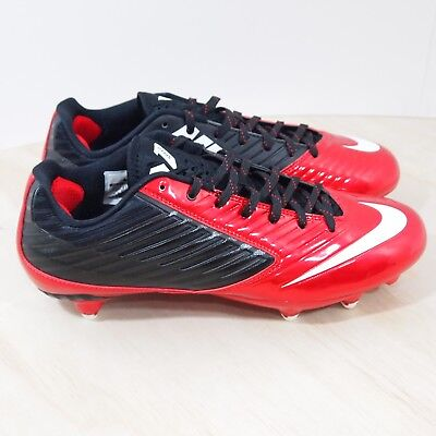 1f5f5fdddd4a Nike Vapor Speed Low D Size 10.5 Mens Football Cleats Red Black 643160-610