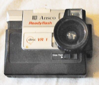 Vintage Ansco Disc Camera  VR 1 With Wide Lens 0.7X Attachment, FREE SHIPPING