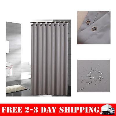 Fabric Waterproof Bathroom Shower Curtain 72x78 Inch Mildew Resistant Light Gray