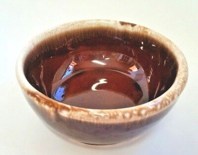 "Mccoy 7016 Pottery Brown Drip Small Bowl 51/4"" Diameter 2"" High    (S6)"