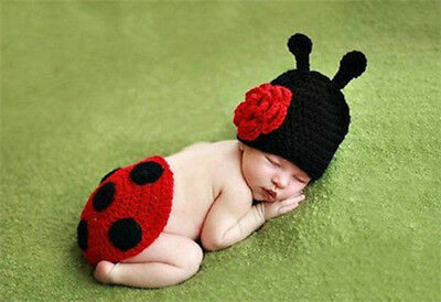 Hot Newborn Baby Cute Bee Crochet Knit Costume Photo Photography Prop Outfits