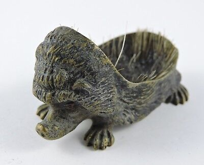 Antique Cast Bronze / Brass Porcupine - 19th Century
