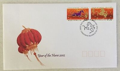 2002 Christmas Island Year of The Horse FDC