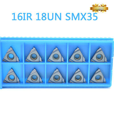 10* 16IR 18UN SMX35 Carbide Insert For Threading Turning Tool Boring BAR CNC