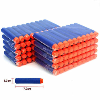 Round Head Soft Bullet Darts  For NERF Kids Toy Gun N-Strike Round Head Blasters